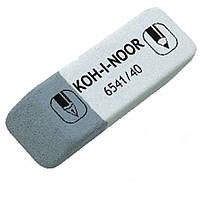 """Ластики Koh_i_Noor 6541/40 бело-серый клиновид 55х18х8мм каучук """"SunPearl"""""""