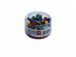 Кнопка Deli 0042 микс 80шт силовые цветн банка