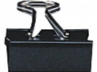 Зажим для бумаг Deli 9544Е чорн 25мм кар/уп