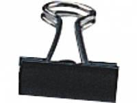 Зажим для бумаг Deli 9545Е чорн 19мм кар/уп