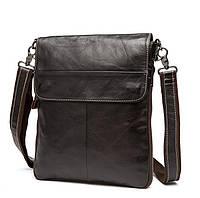 Стильная сумка BEXHILL через плечо из натуральной кожи цвета шоколад