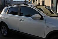 Nissan Qashqai 2007-2010 гг. Наружняя окантовка стекол (4 шт, нерж) OmsaLine - Итальянская нержавейка