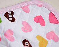 Пеленка непромокаемая хлопок с прослойкой  50х70, Розовый