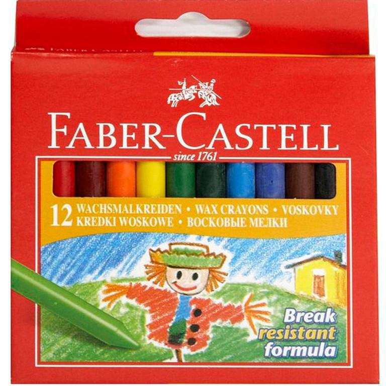 Карандаши цветные Faber_Castell 141012 12цветов 12шт 108мм воск