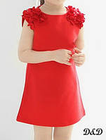 Детское платье красное