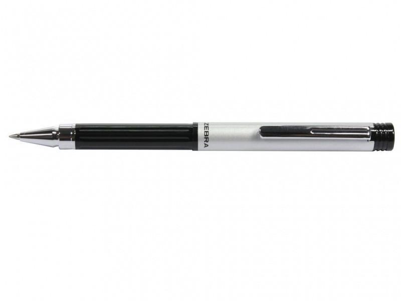 Ручка без футляра Zebra M5 BK синій РШ металева M5 срібна NEW
