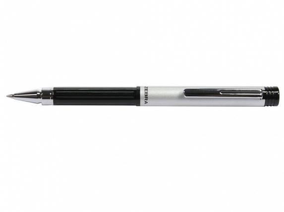 Ручка без футляра Zebra M5 BK синій РШ металева M5 срібна NEW, фото 2