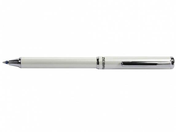 Ручка в эксклюзивном футляре Zebra SL-F1mini синий РШ металлическая Slide 0,7mini белая NEW, фото 2