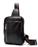 Оригинальная наплечная сумка BEXHILL из натуральной кожи цвета шоколад