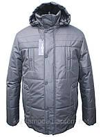 Мужская зимняя куртка на силиконе, черная,купить недорого!