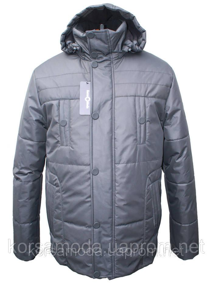 Мужская зимняя куртка на силиконе, черная,купить недорого! -  Интернет-магазин