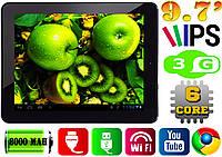 Мощный планшет GoClever R973, HDMI, 6 core, 1Gb RAM, 3G, IPS 9.7'