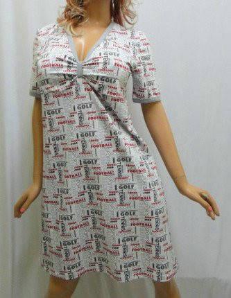 Ночная рубашка с коротким рукавом и различными принтами, фото 2