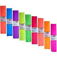 Набор гофрированной бумаги Мандарин КП027/10 фиолетовый 28 г/м2 150% 50х200 см (957) флуоресц