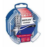 H4 Автолампа галоген NEOLUX(неолюкс) H4 12V 60/55W P43T / для фар головного света и сигнального освещения