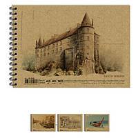 Альбомы для рисования Графика АR5740 40л А5 120г/м2 на спир KRAFT