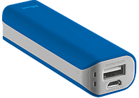 Устройство со встроенным аккумулятором для зарядки Trust Primo Power Bank 2200 blue