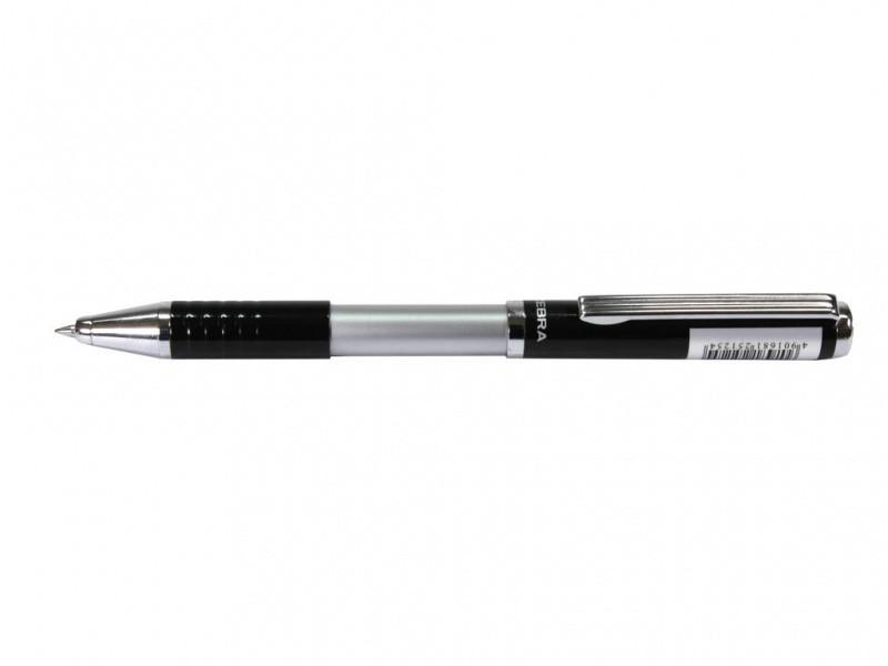 Ручка в ексклюзивному футлярі Zebra SL-F1 блакитний РШ металева Slide 0,7 у футлярі чорний лак