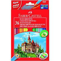 """Карандаши цветные Faber_Castell 120136 36цветов шестигранные+точилка """"Замок"""", картонная коробка с подвесом"""