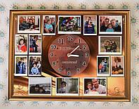 Часы Настенные с вашими фотографиями на подарок