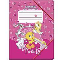"Папка для тетрадей Hatber Пк5р_07161 А5 картон. на резинке ""Tweety"""
