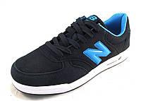 Кроссовки мужские NEW BALANCE замшевые, синие  (р.42,44,45)