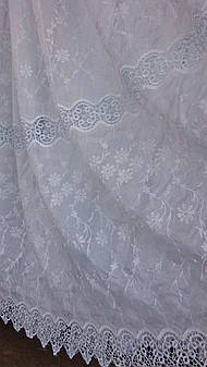 Тюль на кристалоне код 9-323(L)