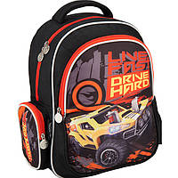 "Рюкзаки Kite16 HW16-512S черно-оранжевы ""512 Hot Wheels"" размер 38х29х13см, вес 800г, объём 14л, ортопедическая спинка"