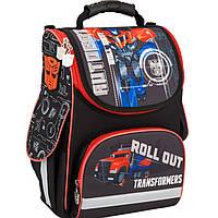 """Рюкзак Kite16 TF16-501S-1 черно-красный каркасный """"501 Transformers -1"""" размер 34х26х13см, вес 850г, объём 11л, ортопедическая спинка"""
