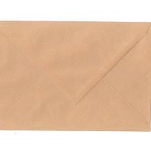Конверт С5 (227мм*163мм) коричневый 80г, мокрокл, диагональ