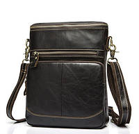 Мужская кожаная сумка-планшетка BEXHILL в винтажном стиле кофейного цвета