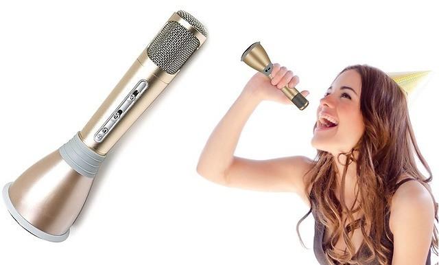 КАРАОКЕ Микрофон беспроводной с динамиком  K068 BLUETOOTH  3.0  Чехол  Акция !!!