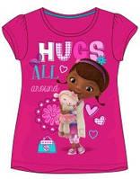 Футболка детская для девочки розовая хлопок EM DIS DOC 2856