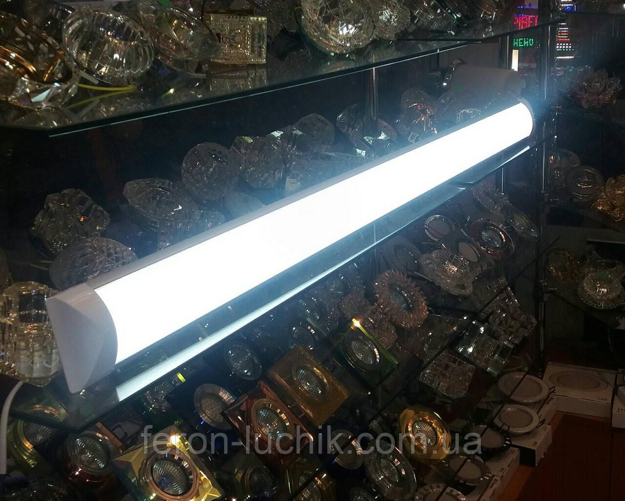 Светильник светодиодный 36W 1200мм линейный плазма на 2 полосы HOROZ 4200К, 6400К LED IP20 (аналог ЛПО 2*36)