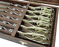Шампура Лось набор шампуров в футляре ручная работа 6шт