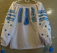 Вышиванка для девочки (ручная вышивка), рост 92-104 см