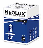 H4 24W Автолампа для грузовиков NEOLUX H4 24V 75/70W P43T- для фар головного света и сигнального освещения