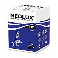 HB3 Автолампа галоген(неолюкс) NEOLUX HB3 12V 60W P20D-для фар головного света и сигнального освещен,
