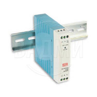 Блок питания MDR-10-24, AC/DC, 24 В, 0.42 А, 10 Вт, на DIN-рейку, Mean Well