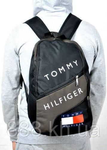 Рюкзак TOMMY HILFIGER, рюкзак томи хилфигер коричневый, портфель для мальчика, рюкзак для мальчика  не оригинал