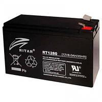 Аккумулятор ИБП 12В 8Ач AGM Ritar RT1280 / 12V 8.0Ah / 151х65х100 мм
