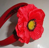 Обруч с цветком  для девочки