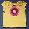 Милая футболка для девочки; 18 мес