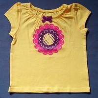 Милая футболка для девочки; 18 мес, фото 1