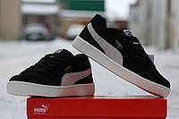 Мужские кроссовки PUMA SUEDE, натуральная замша, черные / черные кроссовки мужские Пума Свейд, замшевые