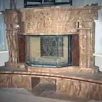 Мраморные камины порталы