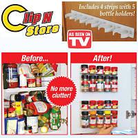 Органайзер для кухонної шафи Clip n Store з навісними планками, фото 1