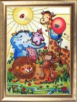 Набор для вышивки бисером Веселый зоопарк