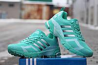 Женские кроссовкиAdidas Marathon,  мятные  / кроссовки женские Адидас Маратен, плотная сетка, модные