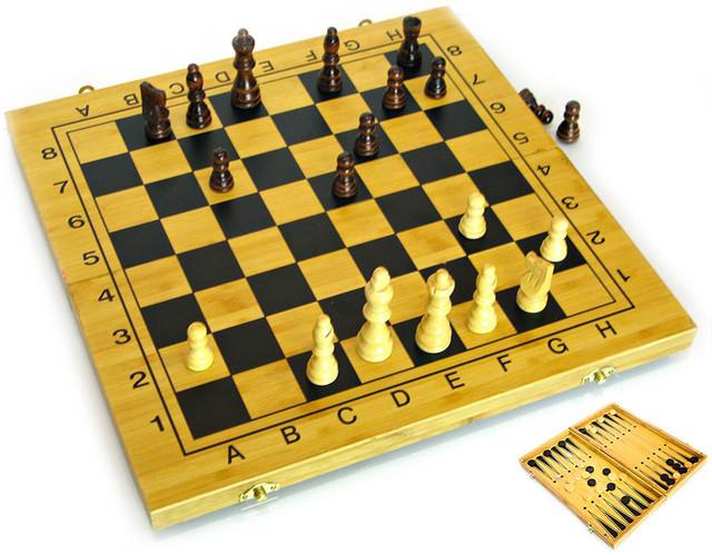 нарды, шахматы и шашки из бамбука